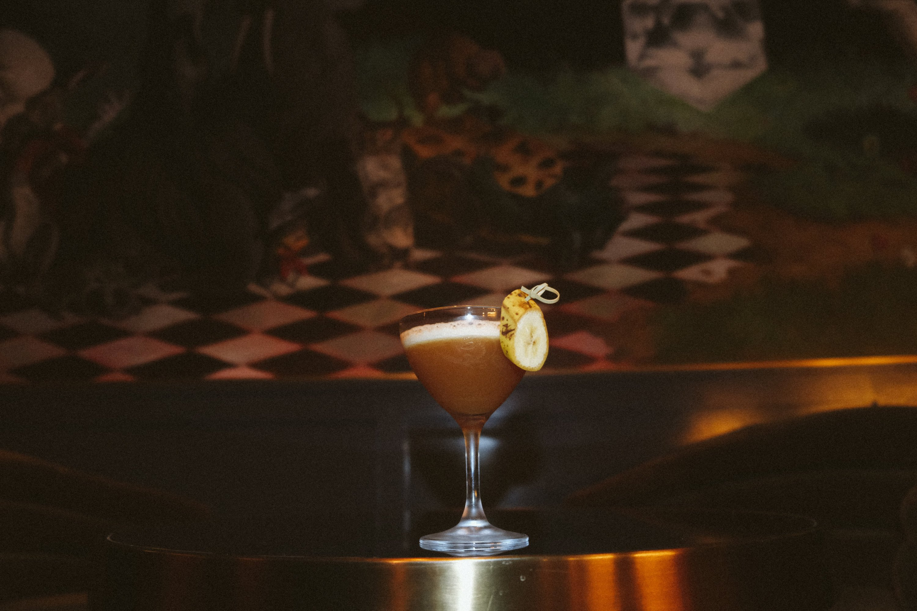 Locos Bananas is created by Dos Mamis bartender Lauren Paylor. Photograph courtesy of Allegory.