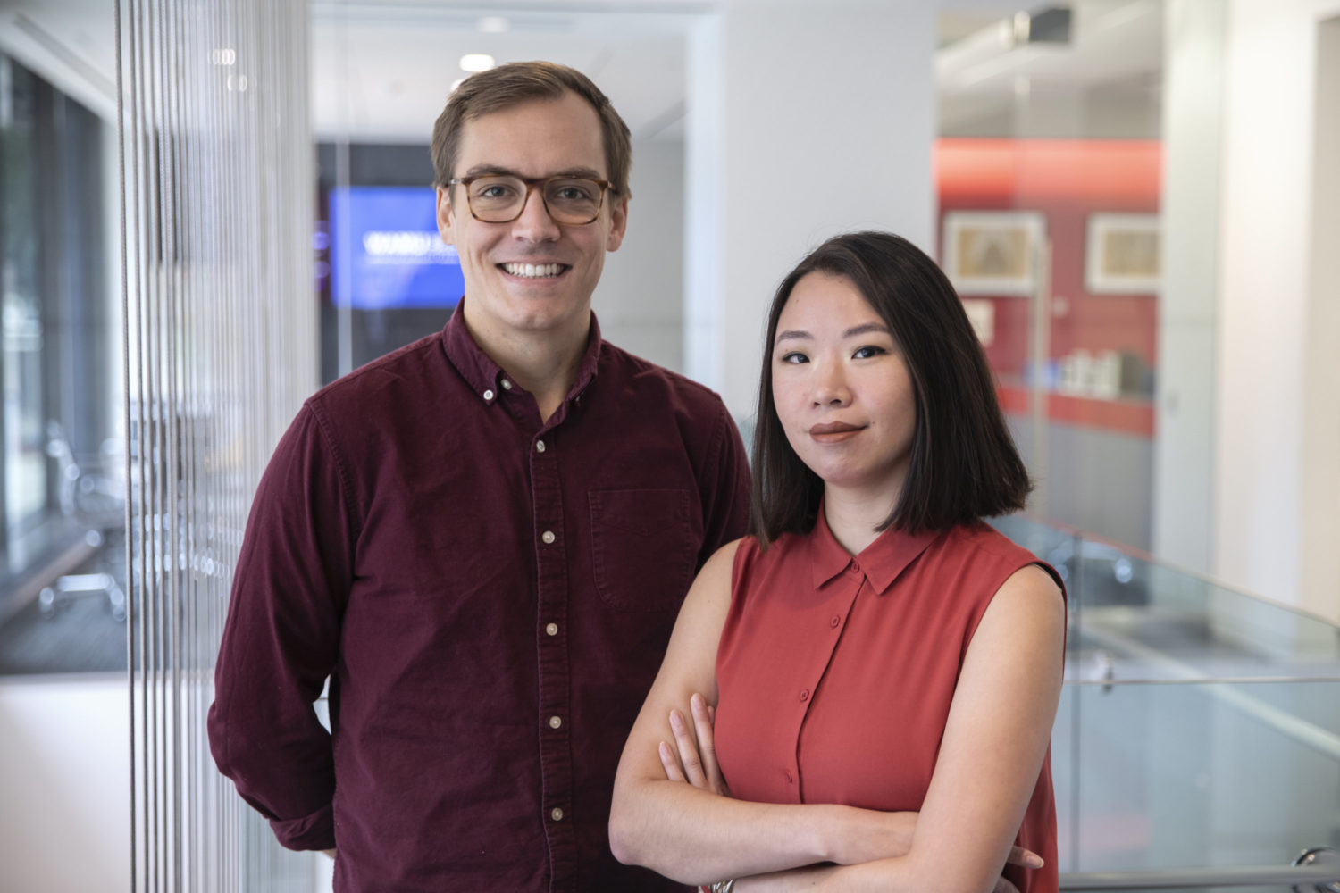 Patrick Fort and Ruth Tam are the producers of Dish City, a podcast exploring DC's iconic foods. Photograph courtesy of WAMU.