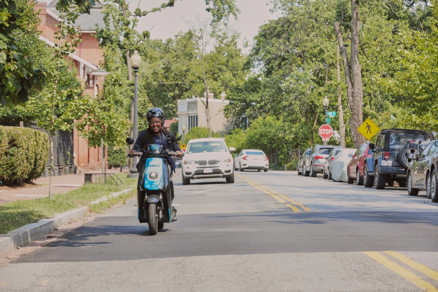 400 electric mopeds are coming to DC this weekend. Photo courtesy of Revel.