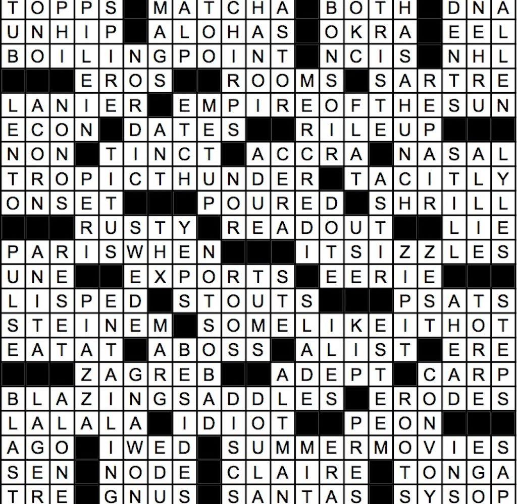 July 2019 Crossword Answer Key | Washingtonian (DC)