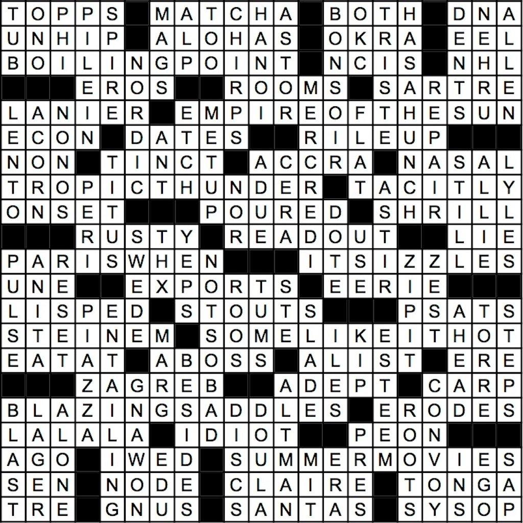 August 2019 Crossword Answer Key | Washingtonian (DC)