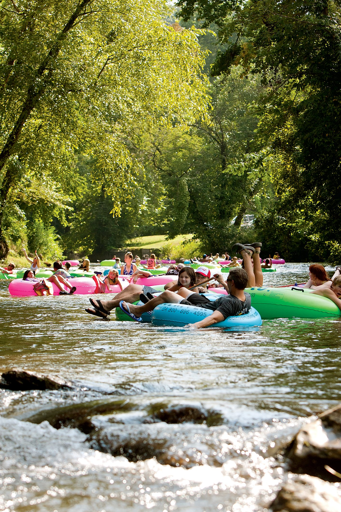 Outfitters throughout the region offer tubing trips for every speed—from calm water to rapids.