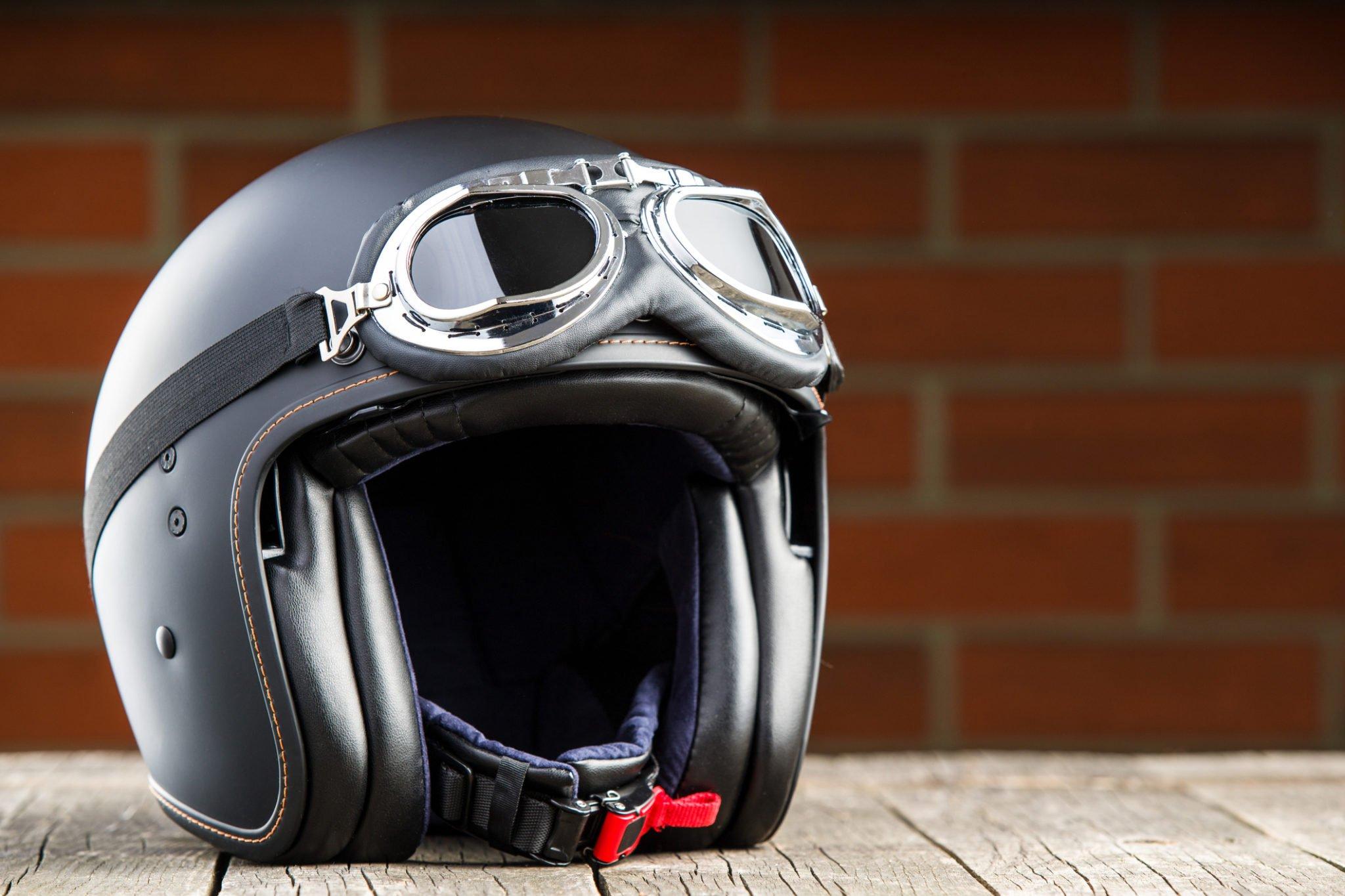 moped helmets sweat