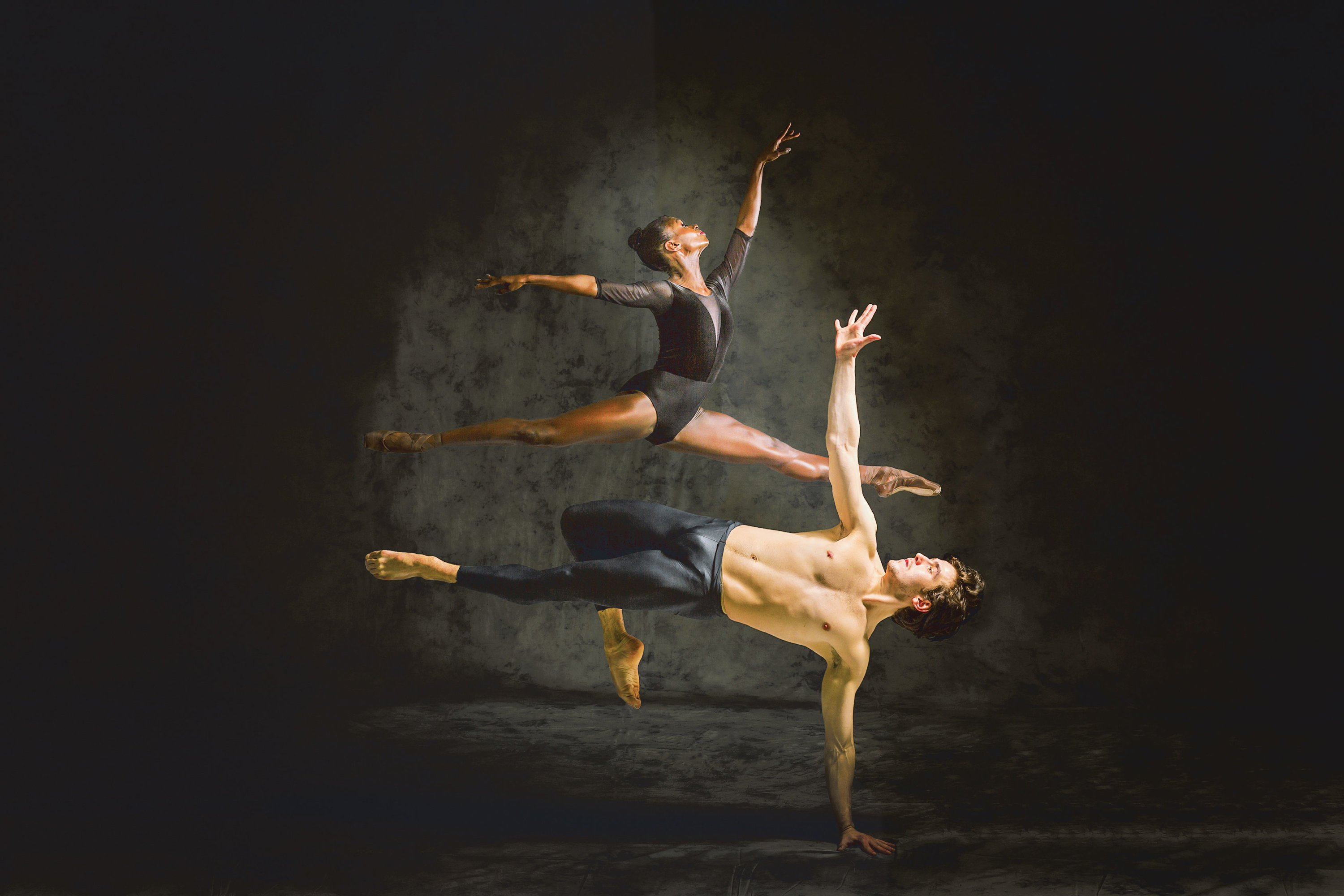 Photograph of NEXTsteps Dancers Alexandros Pappajohn and Ashley Murphy-Wilson by Procopio Photography.