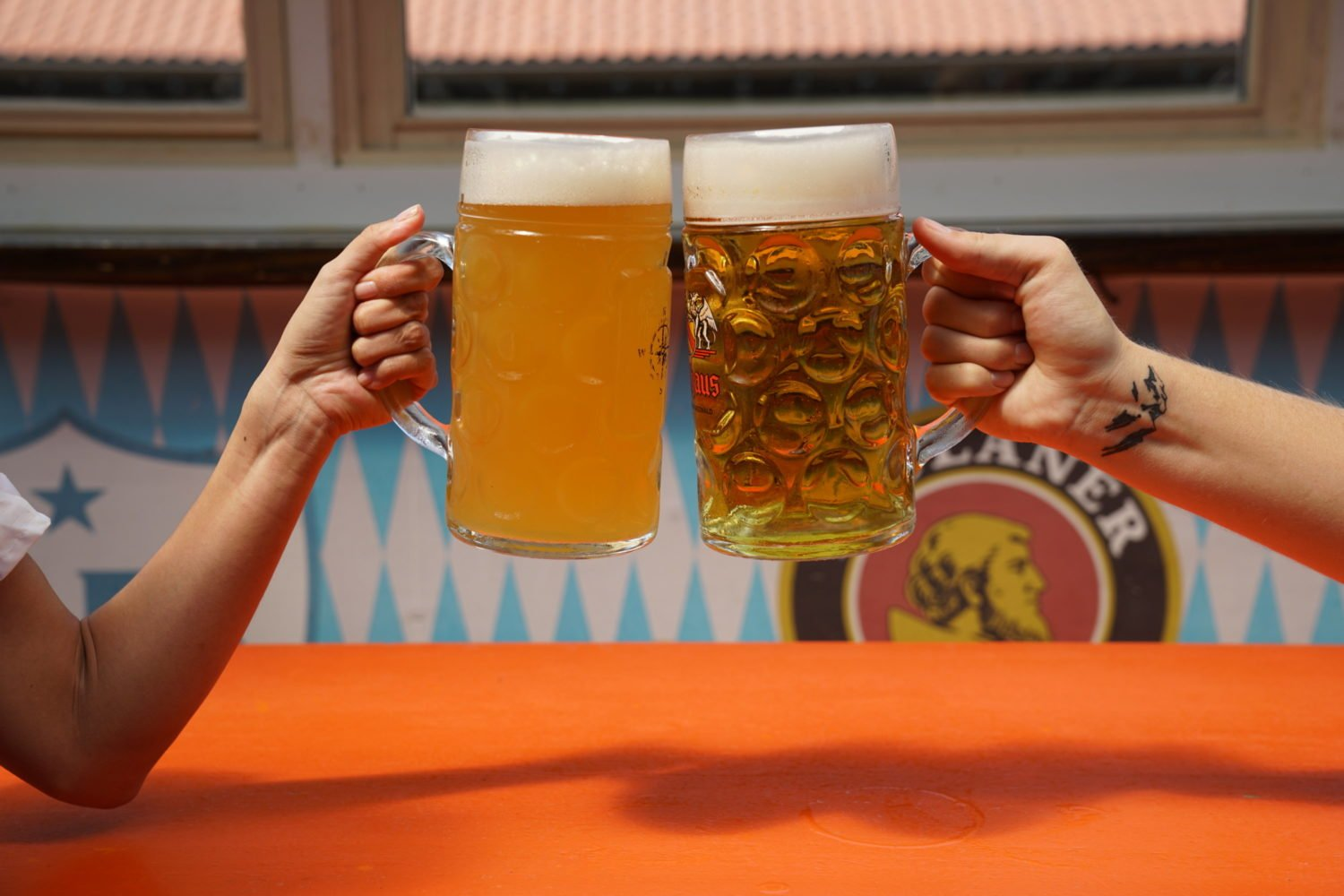 Beer gardens and beer halls like Sauf Haus in Dupont Circle are hosting Oktoberfest celebrations. Photograph courtesy of Sauf Haus.
