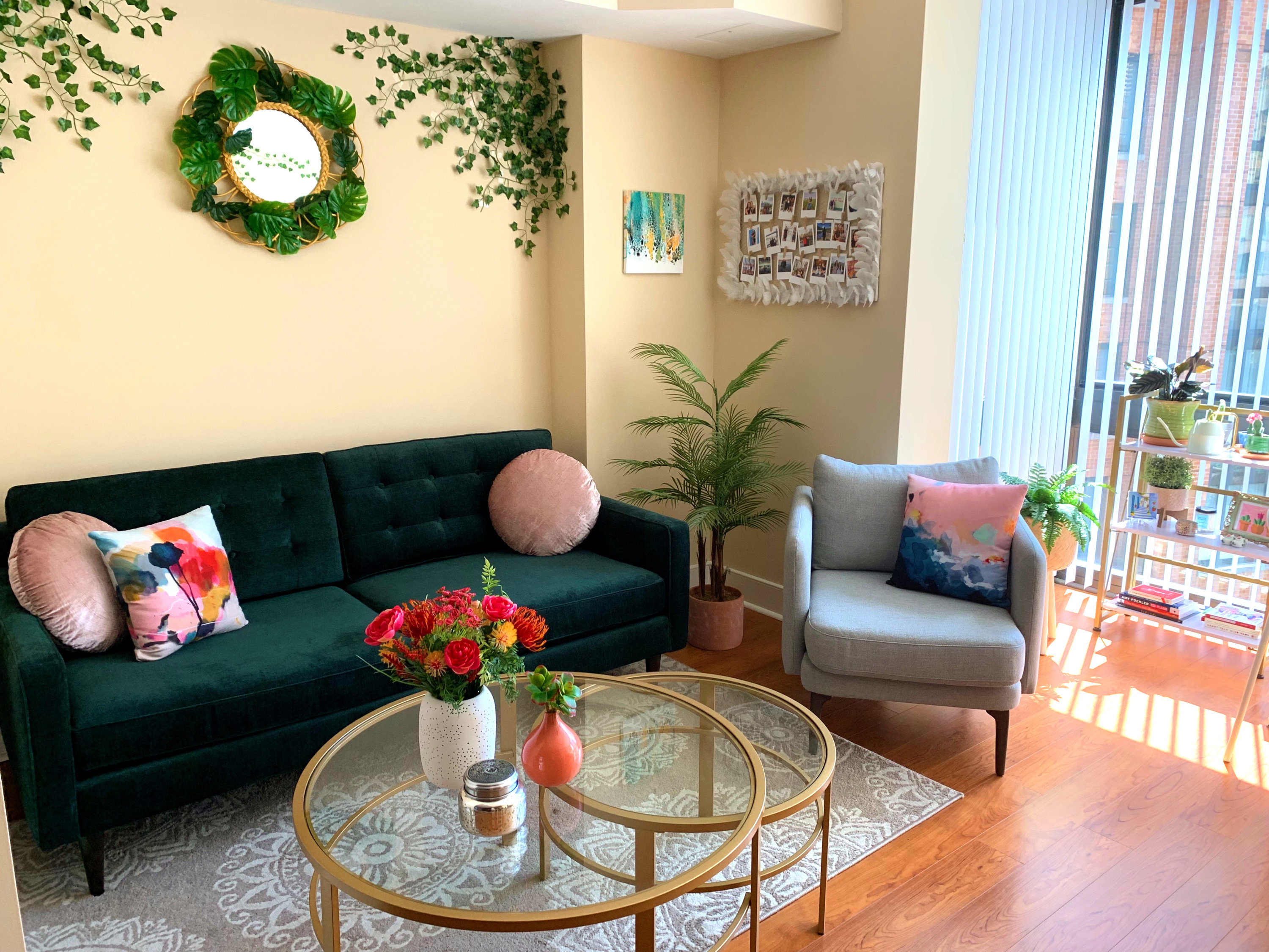 Look Inside My Home: A Mount Vernon Triangle Studio Full of Jewel Tones, Handmade Art, and Michael's DIY Projects