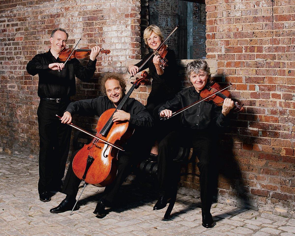 Photograph of Takács Quartet by Ellen Appel.