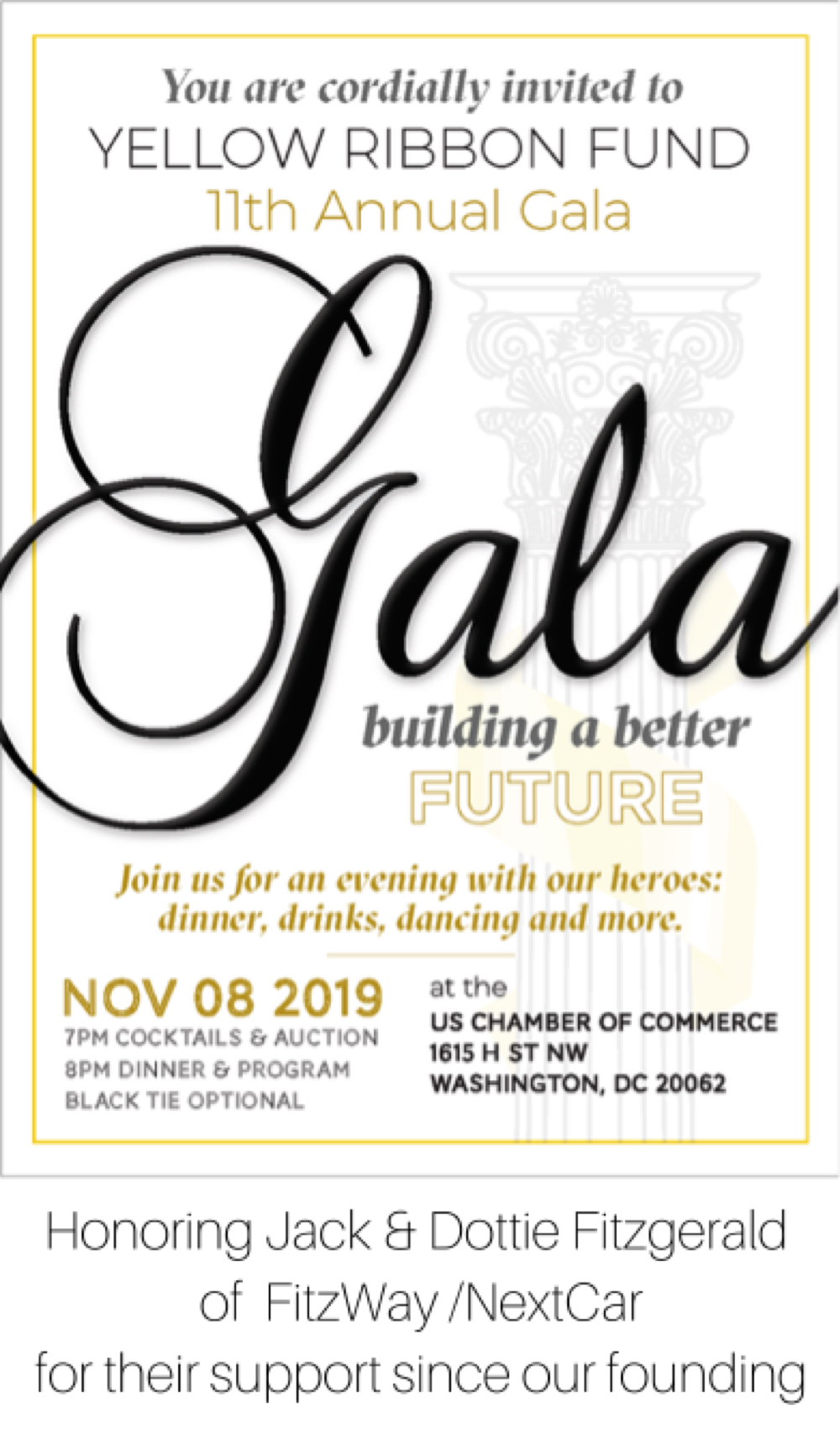 Yellow Ribbon Fund's 11th Annual Gala: Building a Better Future