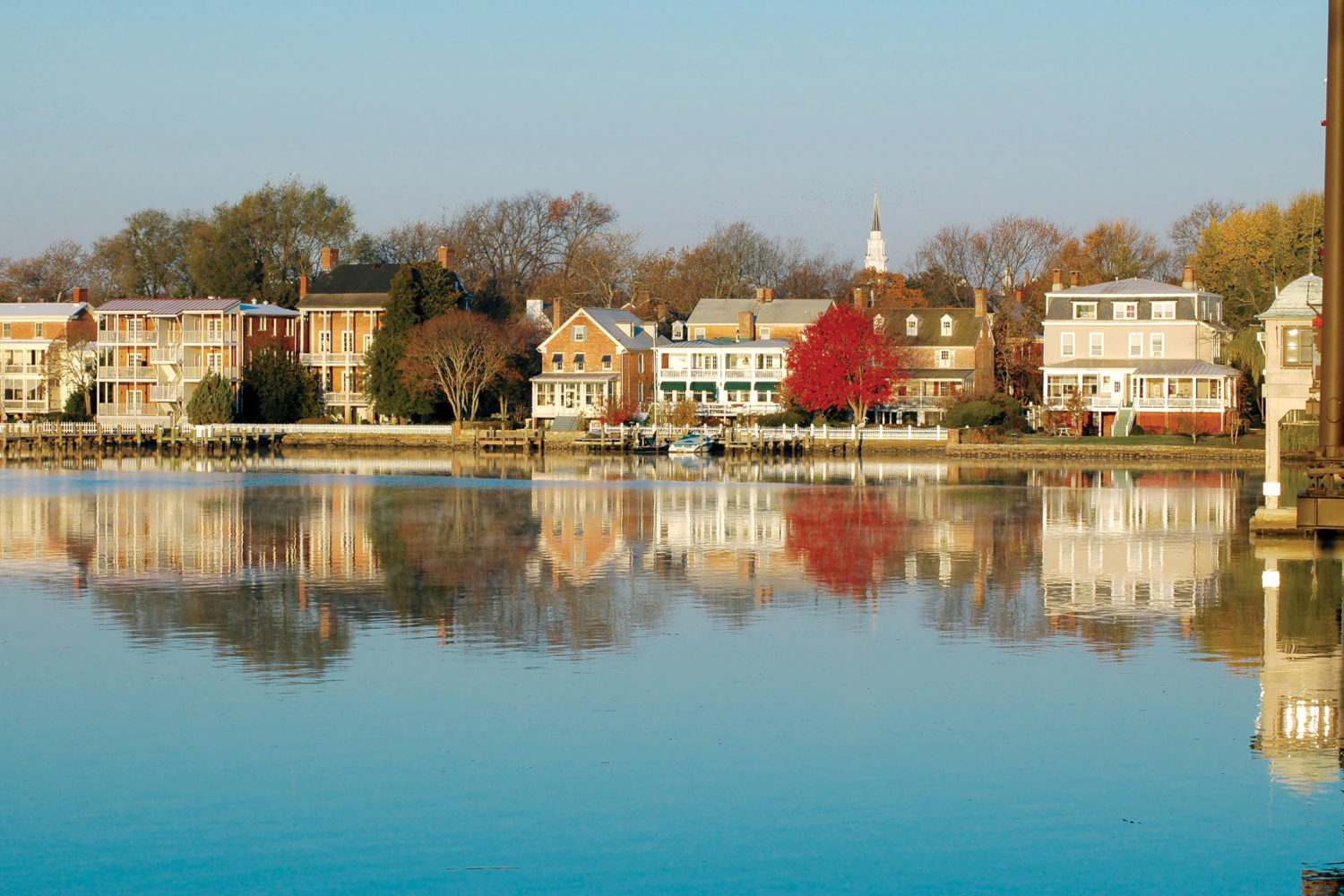 Riverfront beauty: Chestertown. Photograph by Bernadette Bowman.