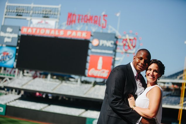 5 Ways Couples Can Rep The Nationals at Their Wedding