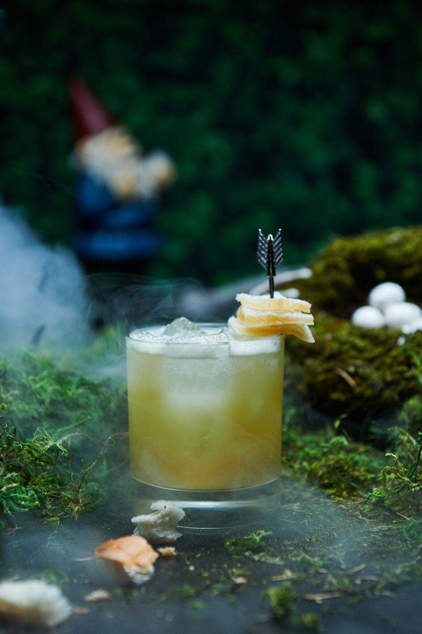 A drink called Crumby Directions pays homage to Hansel and Gretel's trail of bread crumbs. Photograph courtesy of Drink Company.