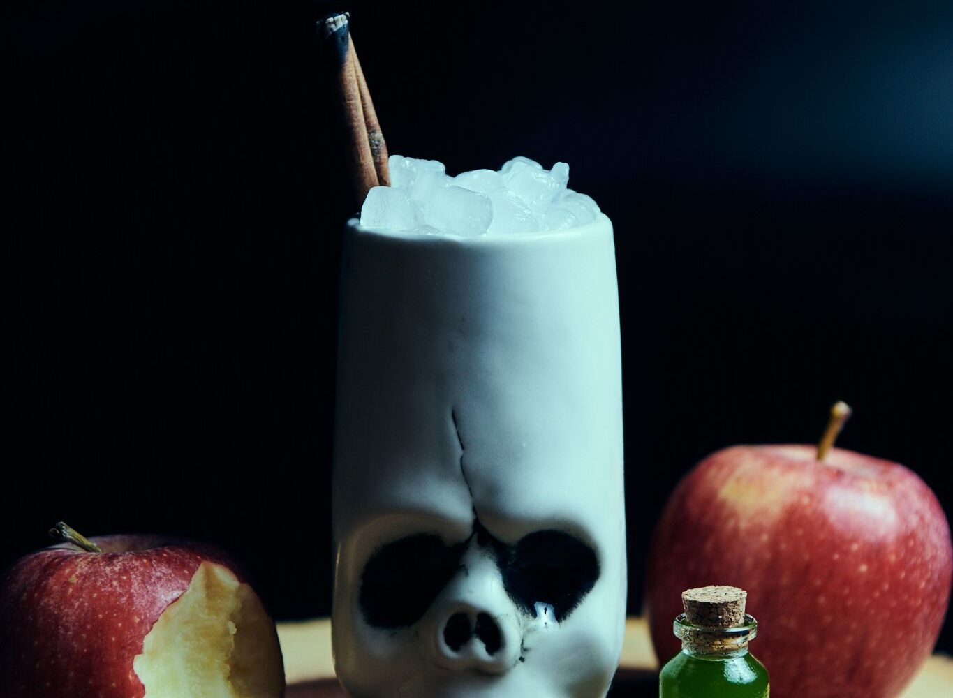 The tale of Snow White gets a whiskey and apple cider drink called the Fairest Apple of Them All. Photograph courtesy of Drink Company.