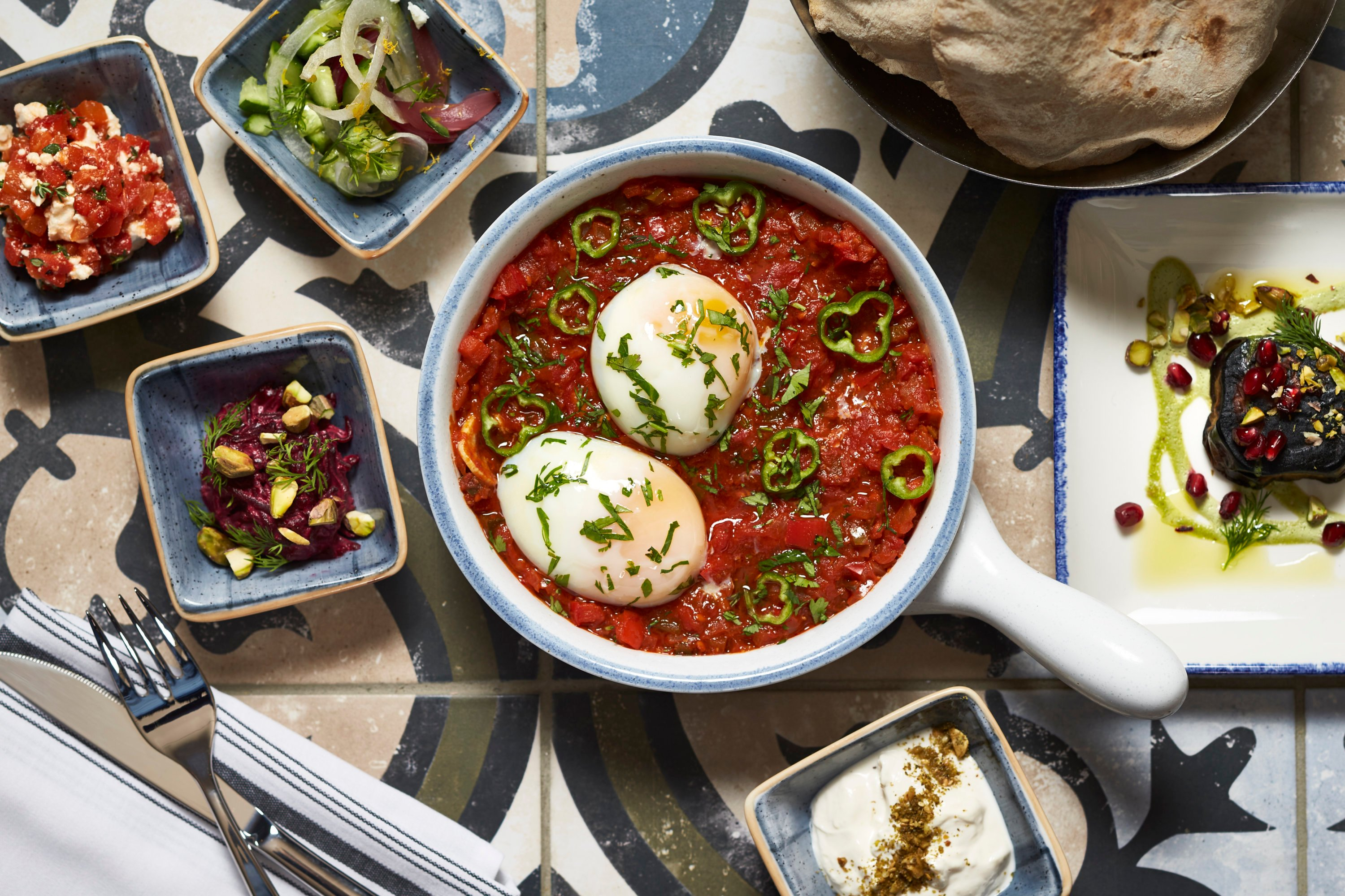 Sababa serves shakshuka at brunch. Photo by Greg Powers.