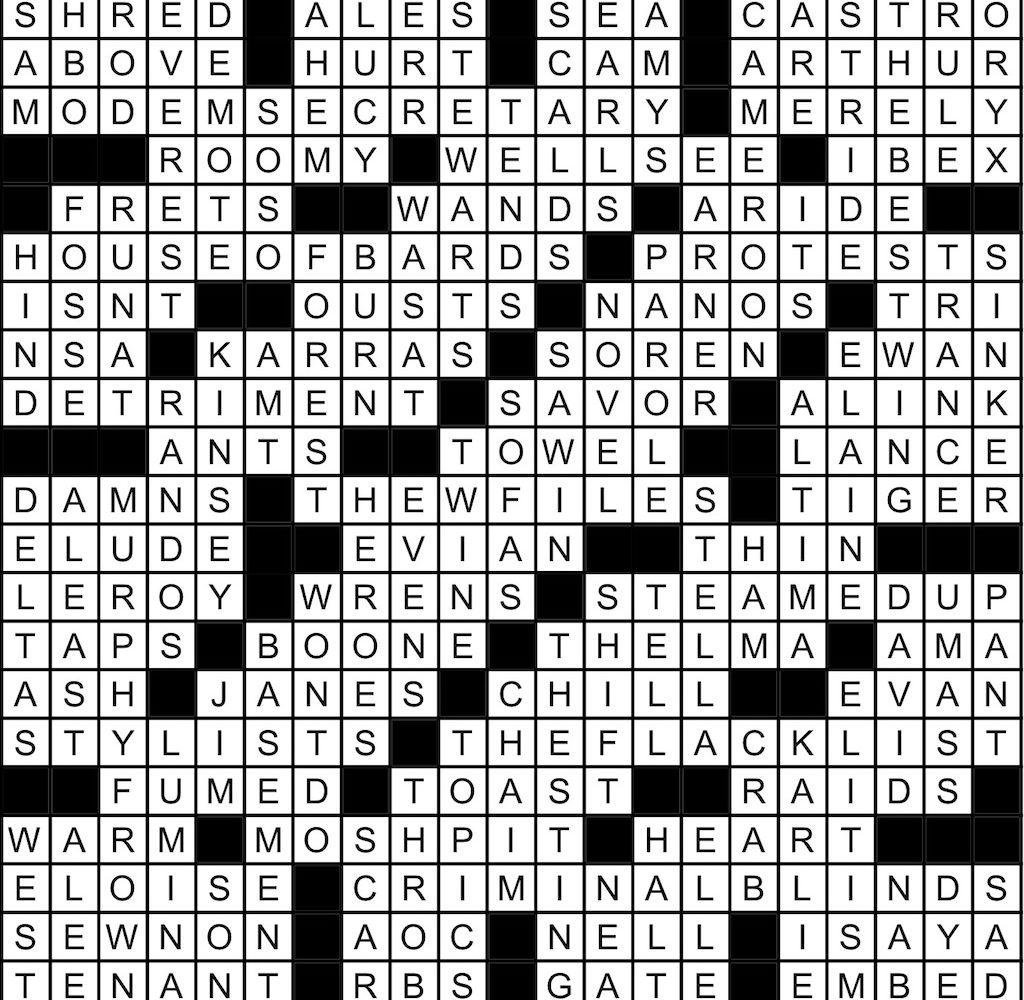 March 2020 Crossword Answer Key Washingtonian Dc