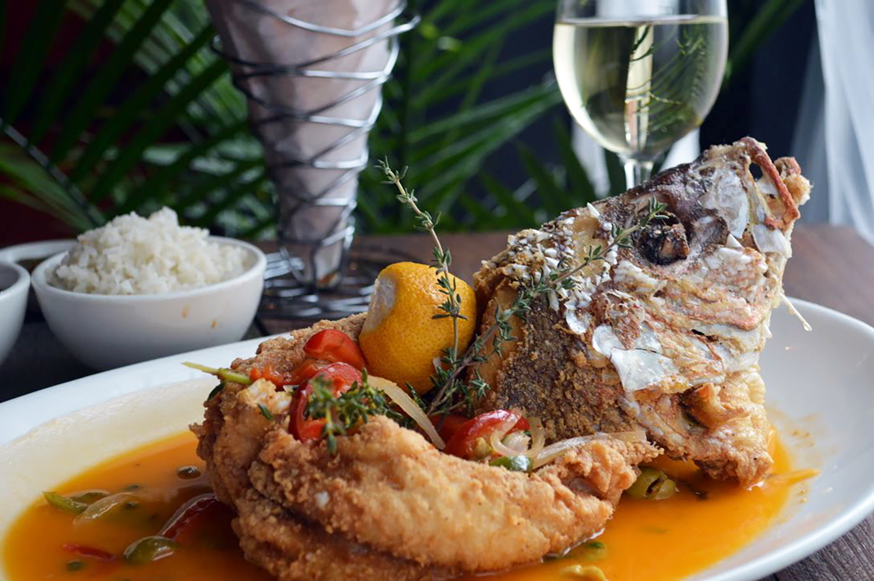 The whole snapper is a tribute to Mexican port city Veracruz. Photo courtesy of Anafre.