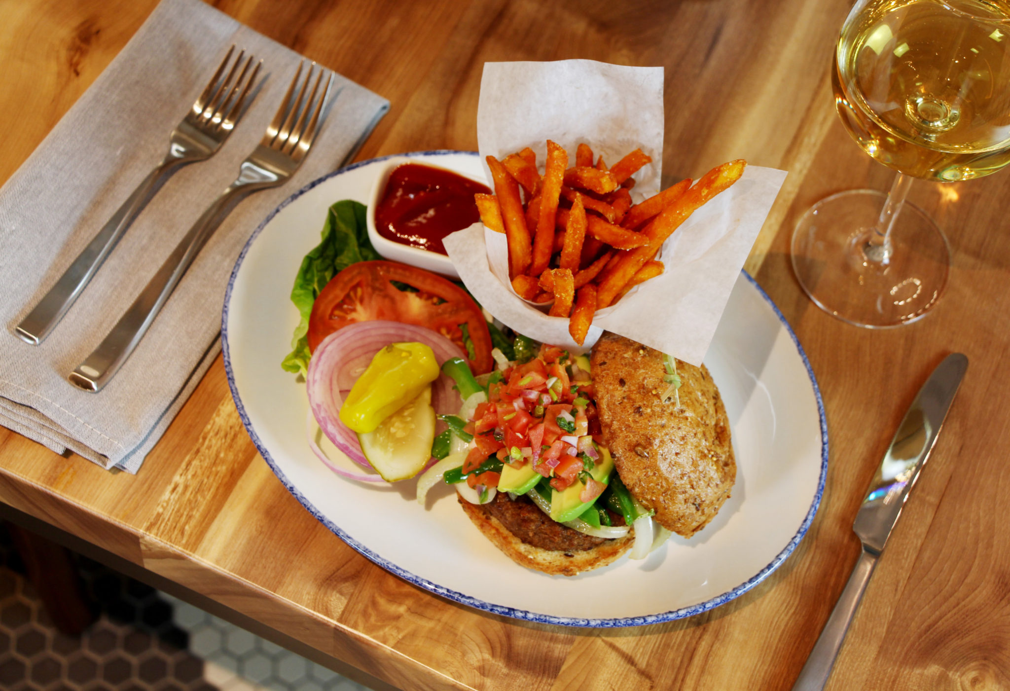The Commentary menu is filled with vegan fare, like the meatless Beyond Burger. Photo courtesy of the Commentary Social House.