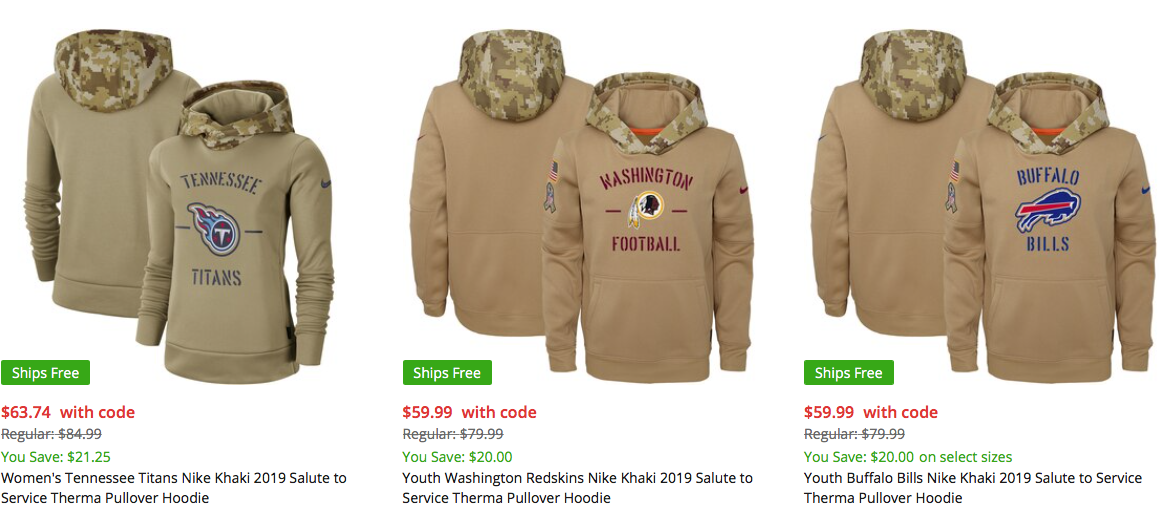 armed forces nfl sweatshirts