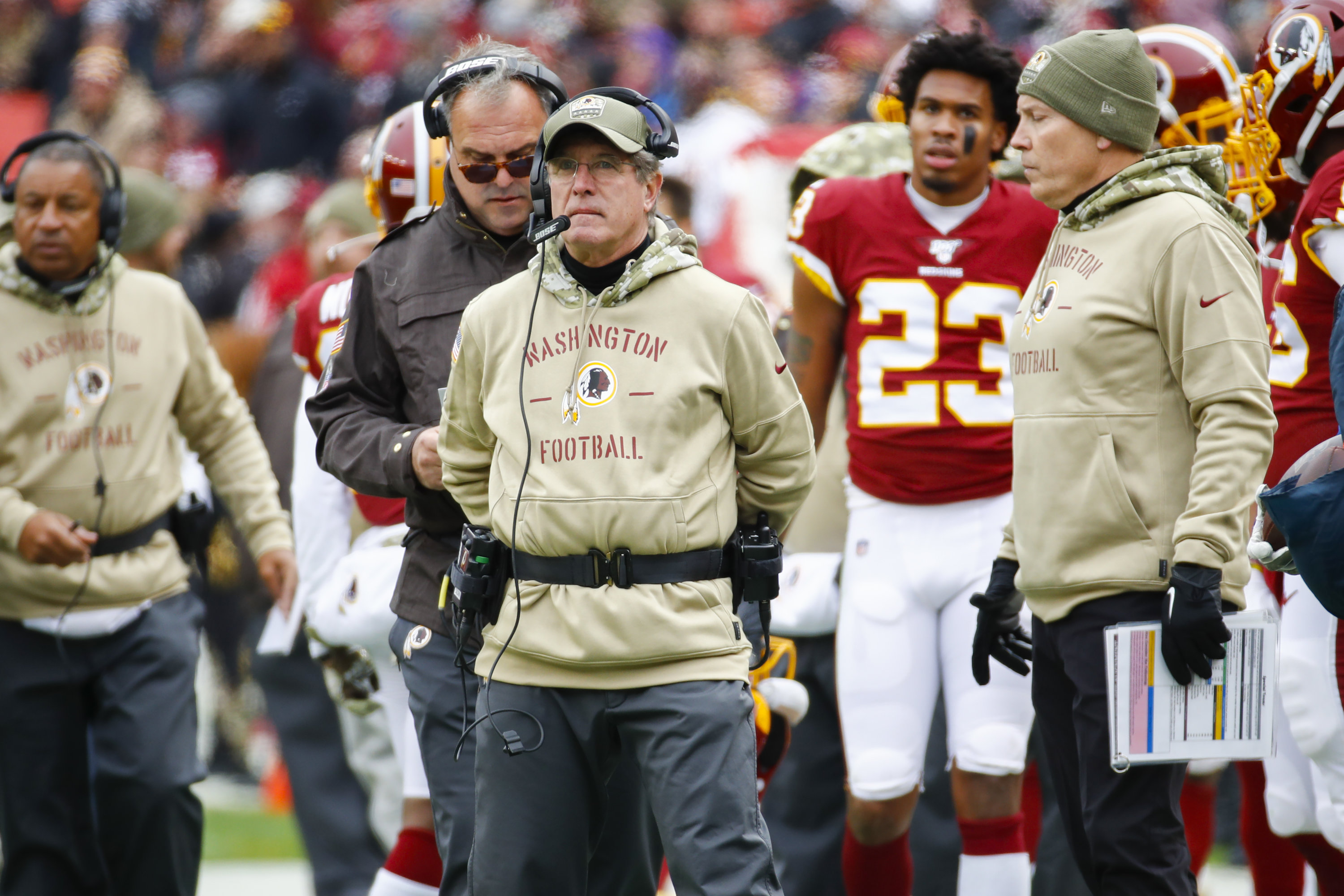 No One Seems to Know Why the Redskins' Name Wasn't on Their Salute to Service Hoodies
