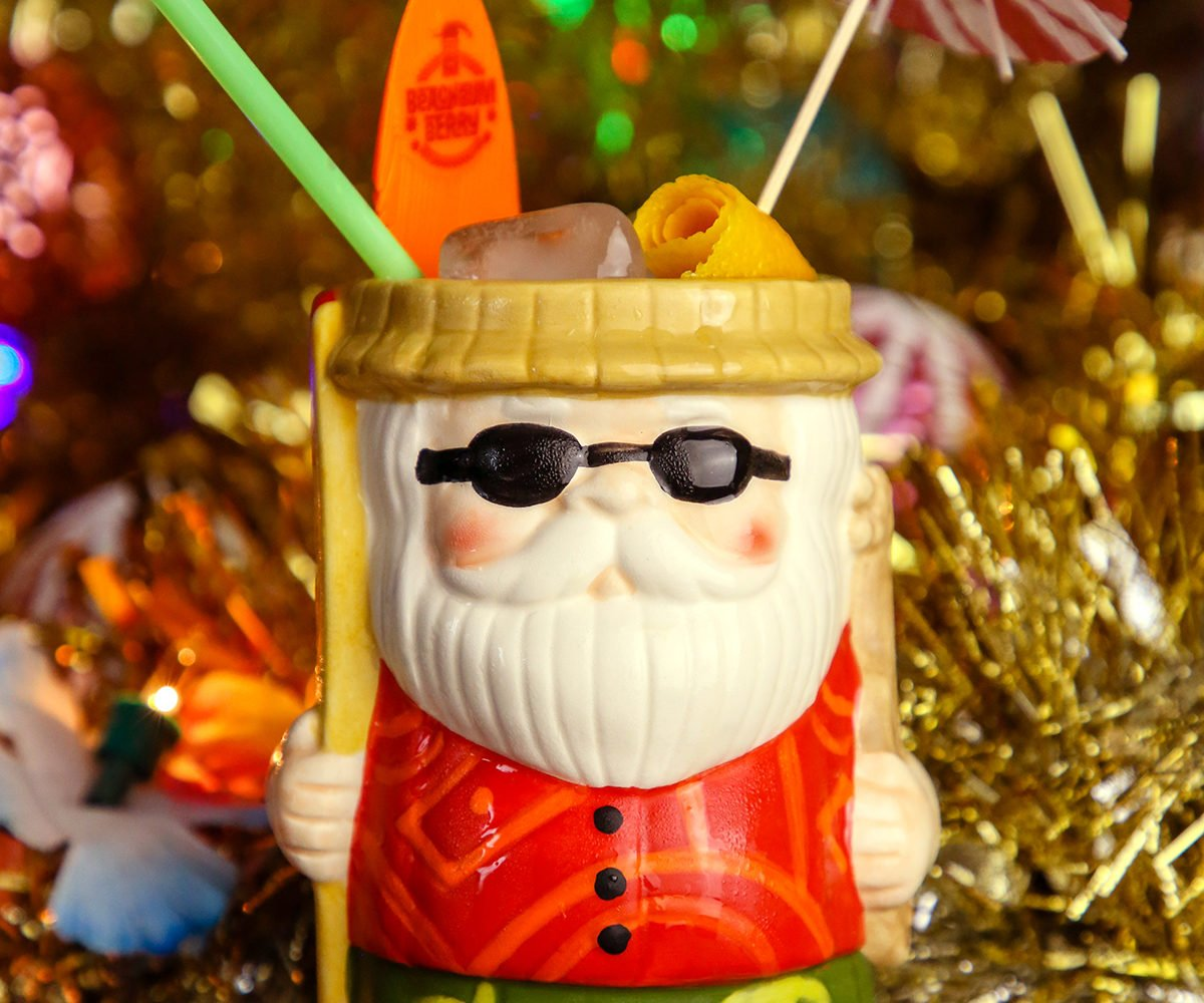 Santa Claus is taking a vacation from the North Pole at Sippin' Santa's Surf Shack. Photo courtesy of Sippin' Santa's Surf Shack.