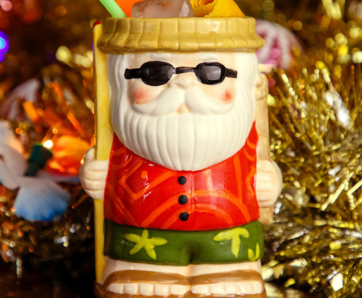 Santa Claus is taking a vacation from the North Pole at Sippin' Santa's Surf Shack. Photo courtesy of  Sippin' Santa's Surf Shack.