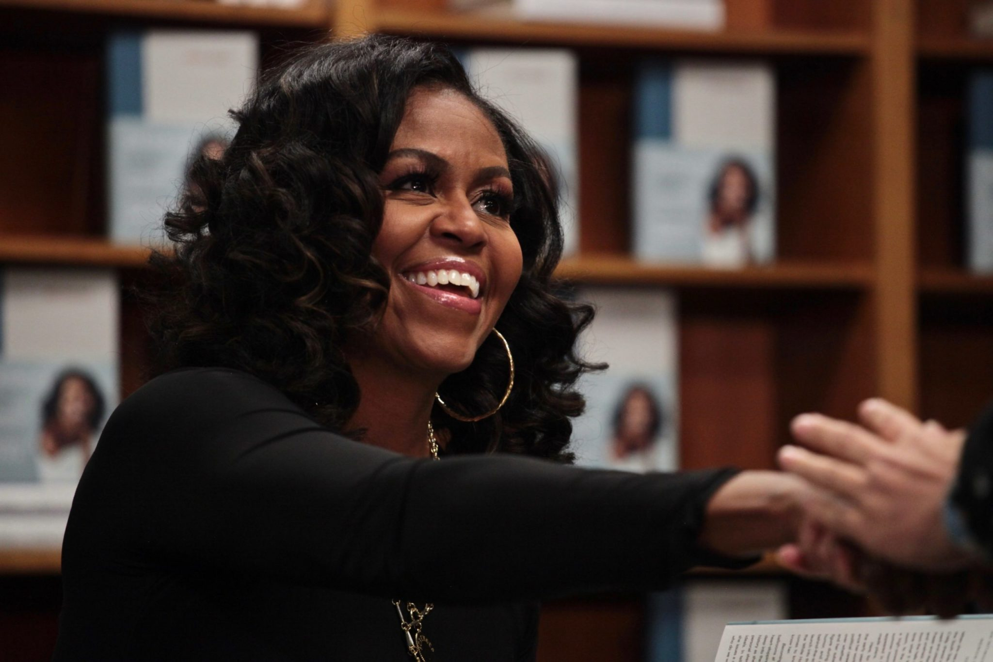 PHOTOS: Michelle Obama Appeared at Politics and Prose on Monday