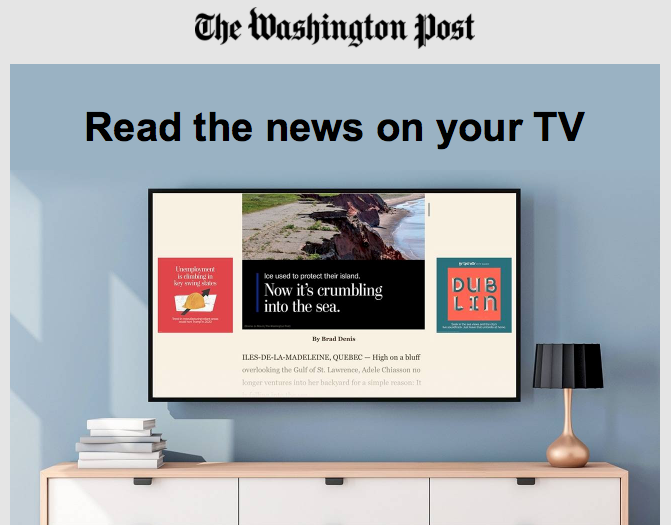 I Can't Quite Figure Out Who This Washington Post TV App Is For