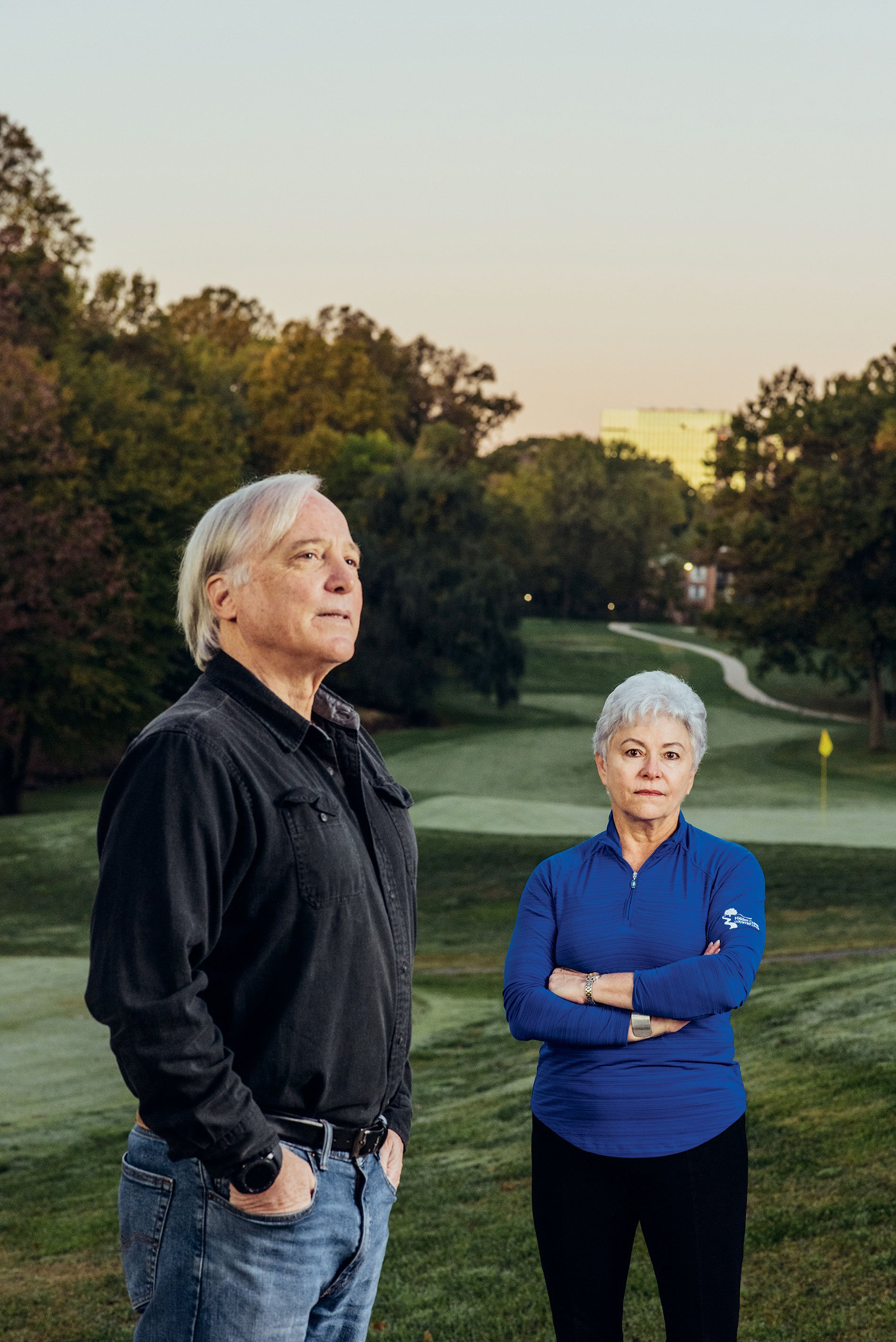 Dennis Hays and Lynne Mulston want golf courses saved—it's green space for all, they say. Photograph by Stephen Voss.