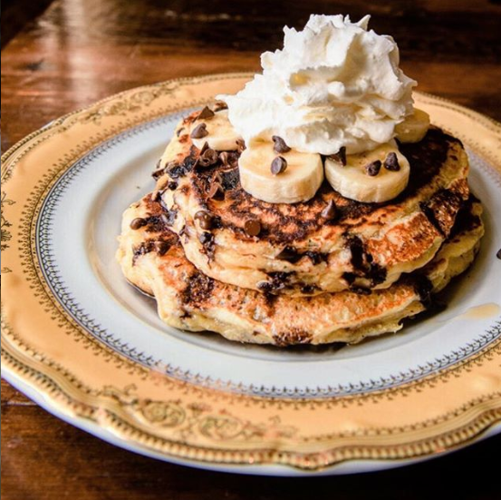 Chocolate chip and banana pancakes at St. Anselm. Photo courtesy of St. Anselm.