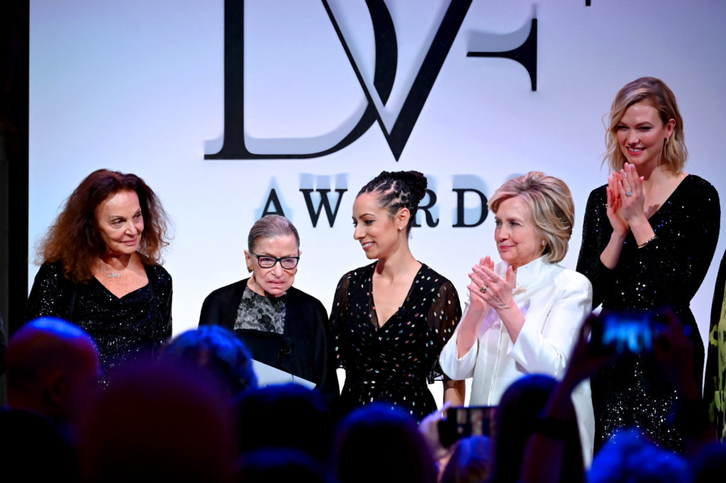 Diane von Furstenberg and Hillary Clinton Honored Ruth Bader Ginsburg in DC | Washingtonian (DC)