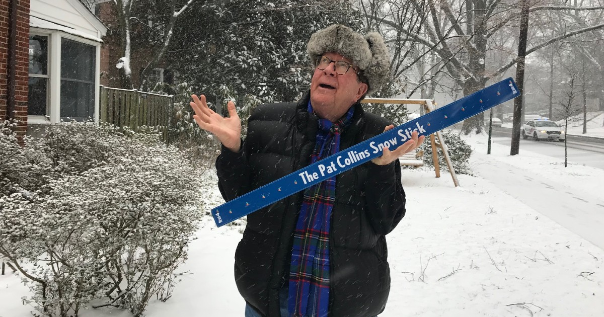 Snow Stick Challenge or No Stick Challenge? Pat Collins Is Feeling Down This Snowless February