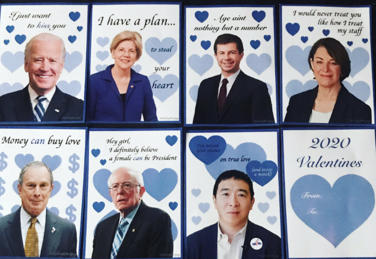 You Can Send a Valentine's Day Card With Some of the 2020 Democratic Candidates' Faces on Them | Washingtonian (DC)