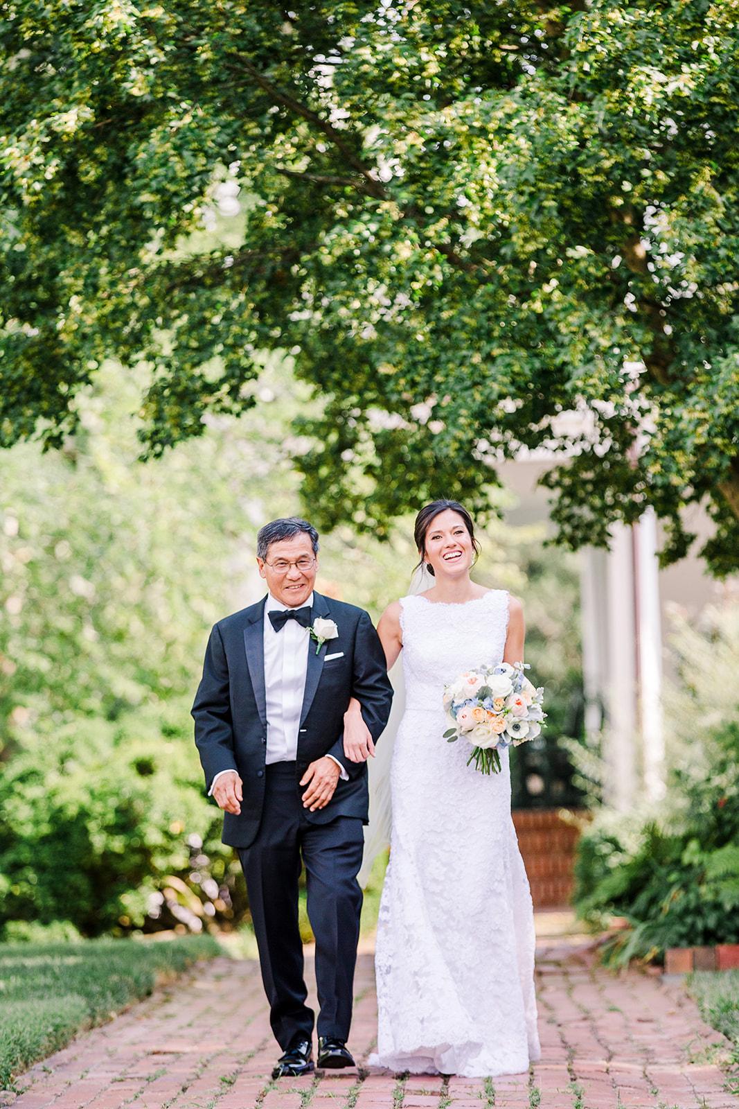 Jon & Christina Blue and white garden wedding  - River Farm, VA