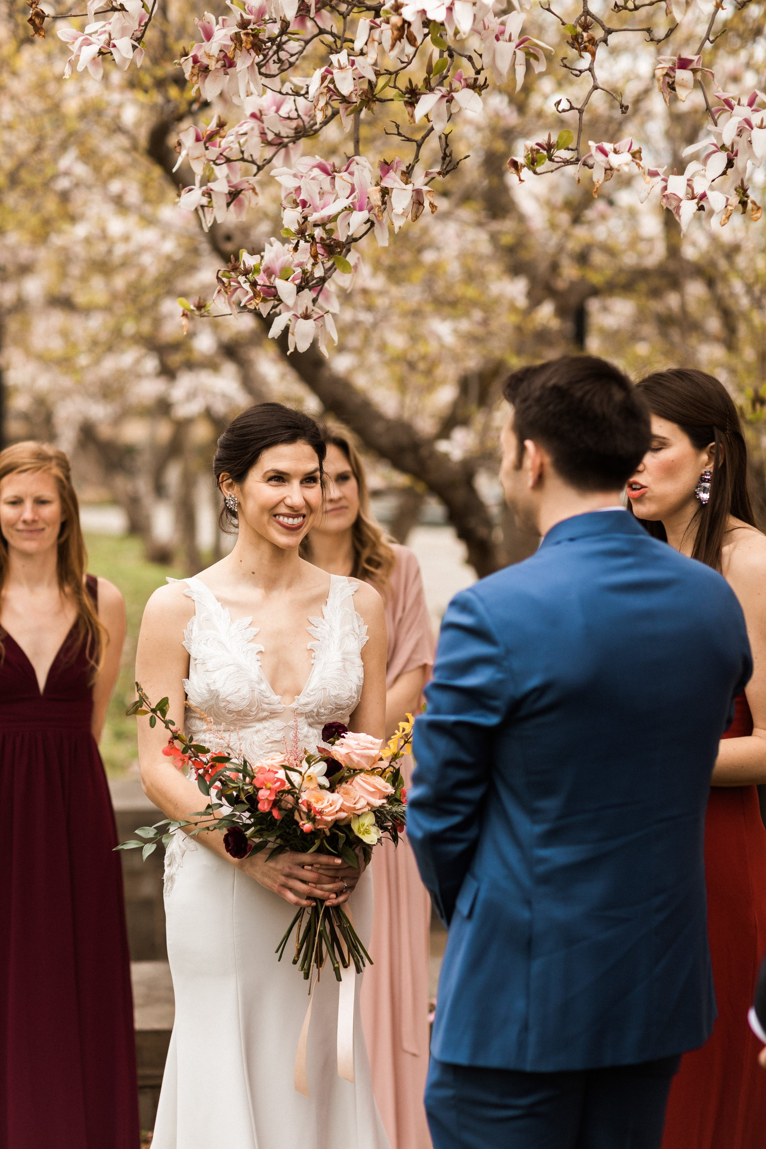 Caroline Wood and Chris Proto's elopement in Rawlins Park, Washington, DC March 21, 2020. Following recommendations from the CDC regarding social distancing to prevent the spread of COVID-19, Caroline and Chris made the difficult decision to postpone their