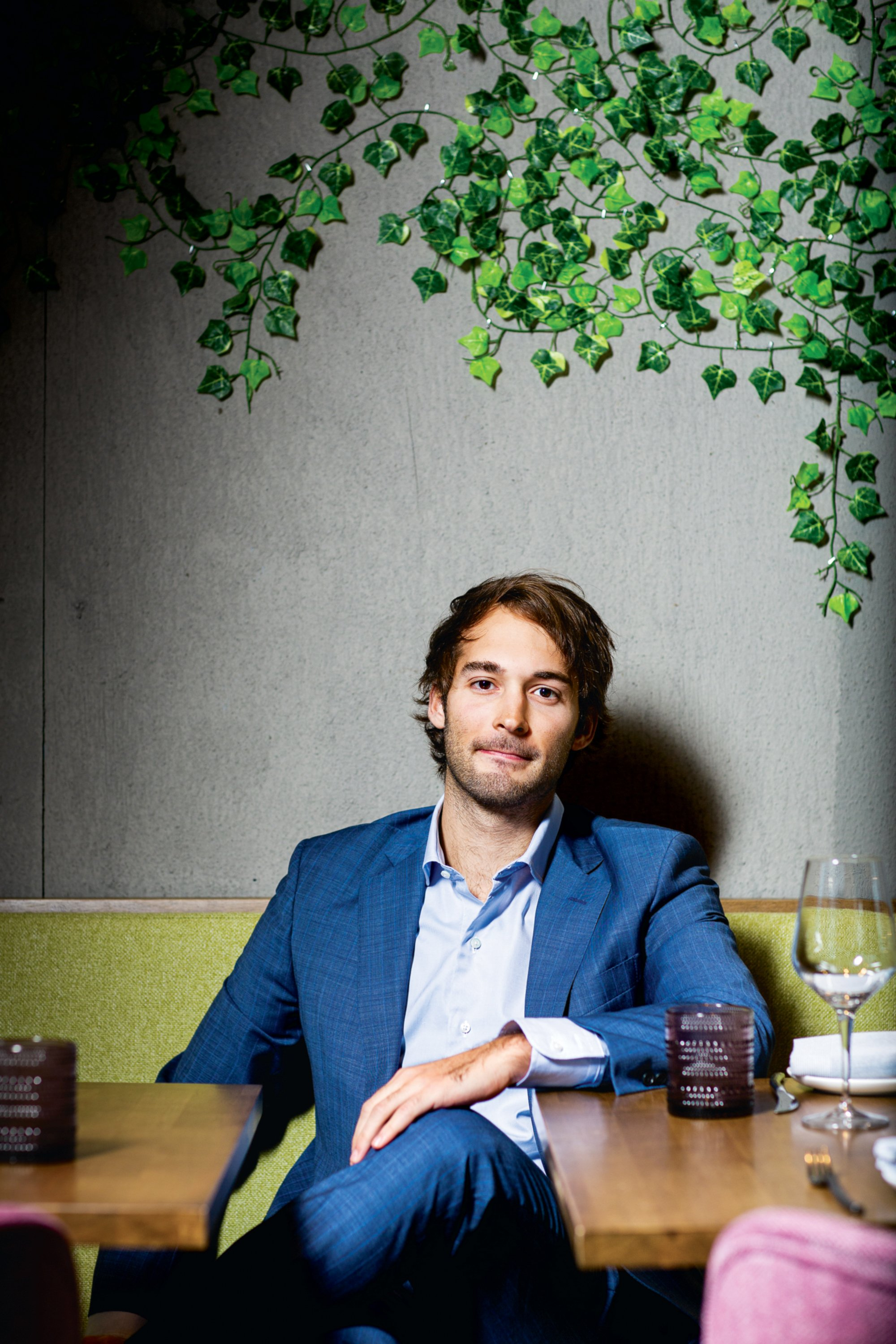 Juan Carlos Figueredo and his older brother launched a restaurant app and have a stake in Seven Reasons. Photographed at Seven Reasons.