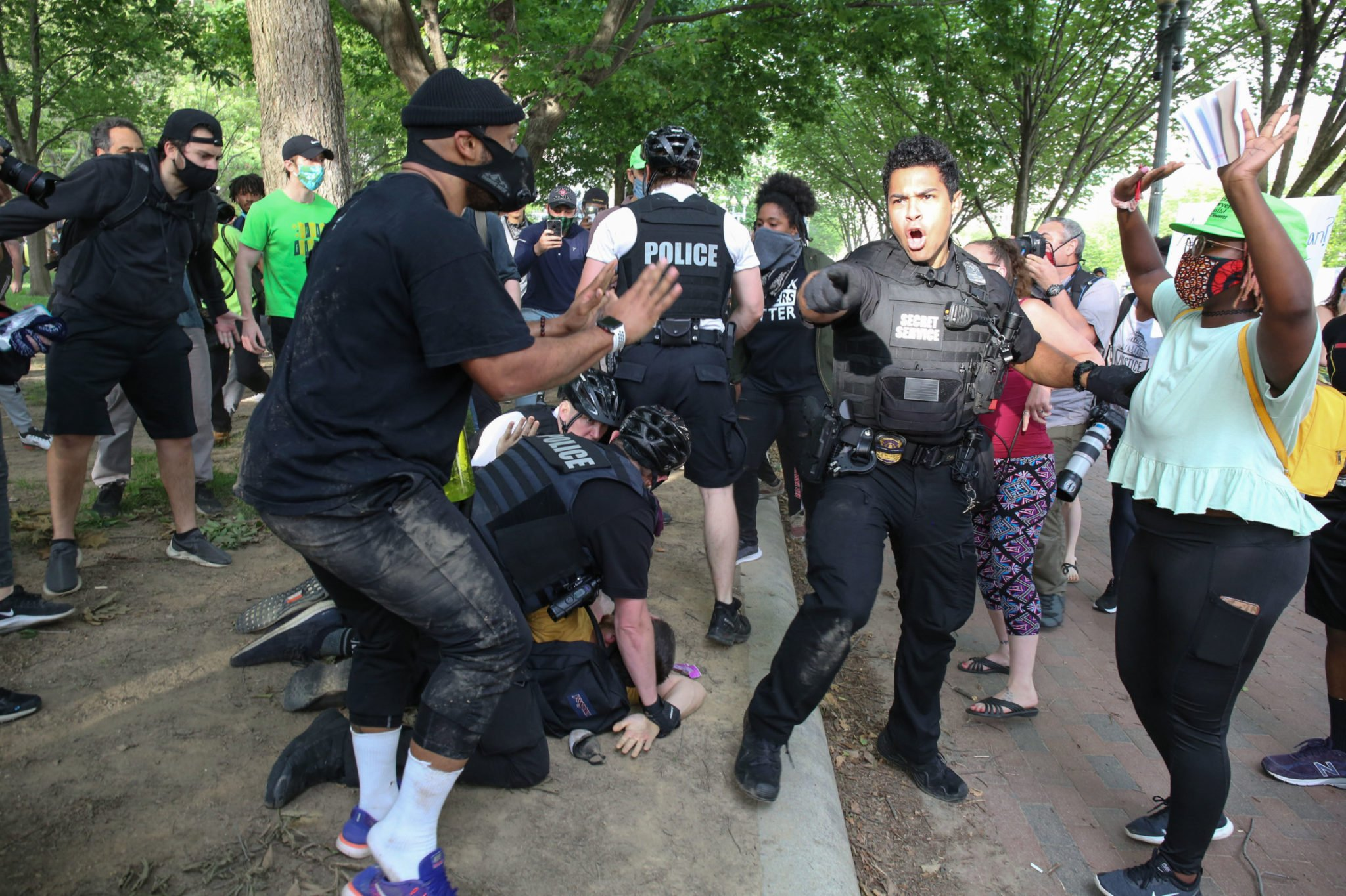 PHOTOS: Protests at the White House and Around DC After George Floyd's Death