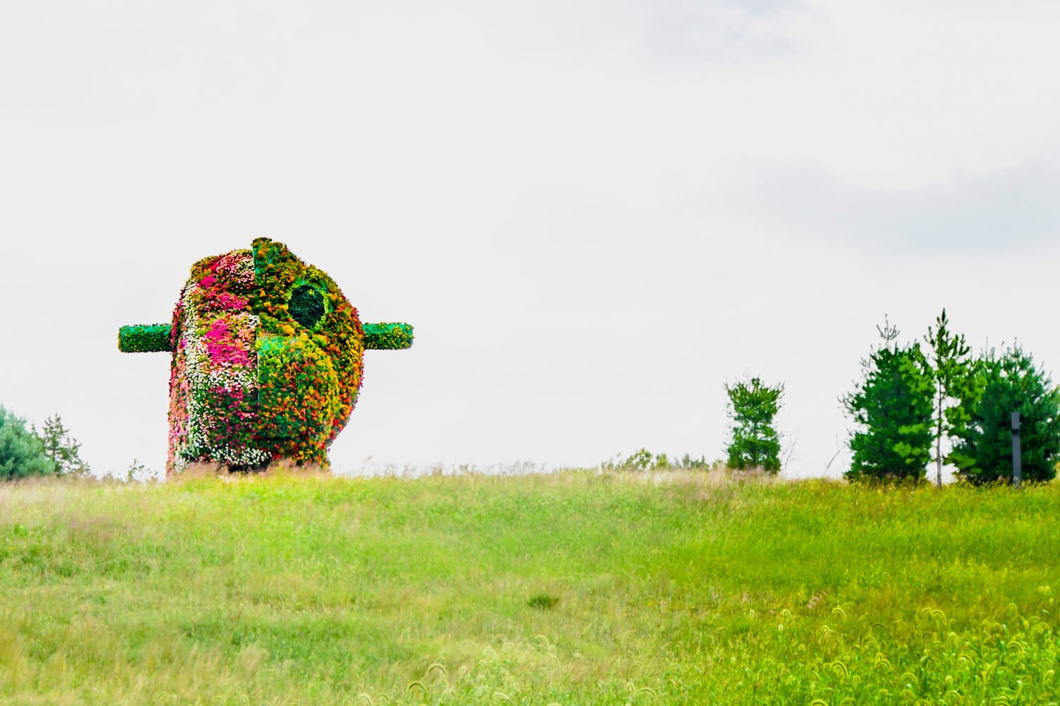 "You can see Jeff Koons' ""Split-Rocker"" on an outdoor-only visit to Glenstone. Photo by Flickr user Ted Eytan."