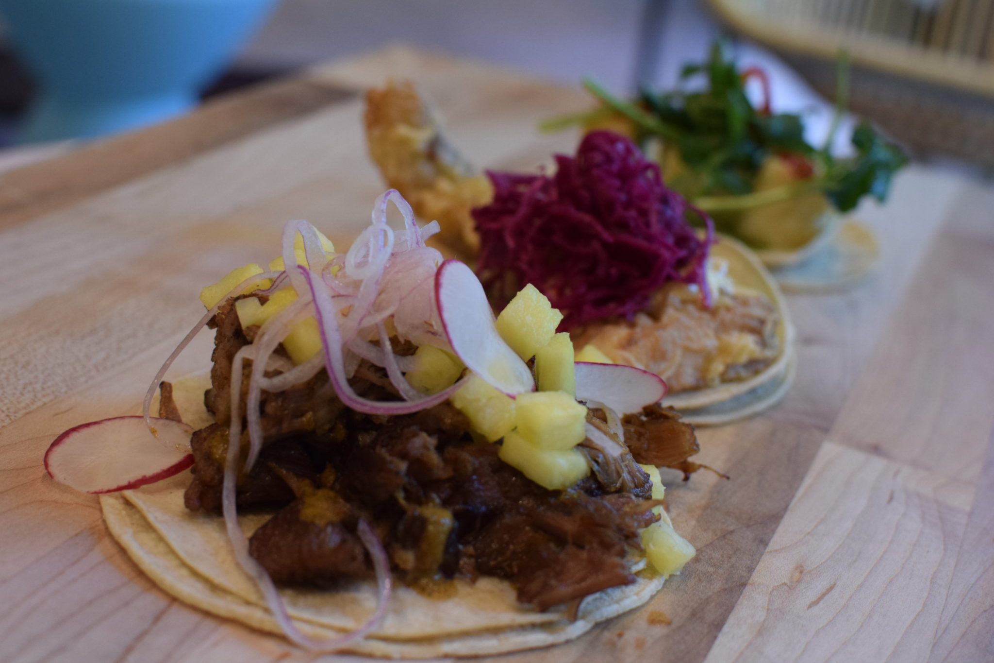 Tacos are available for carryout and delivery. Photo courtesy of Taco and Piña.