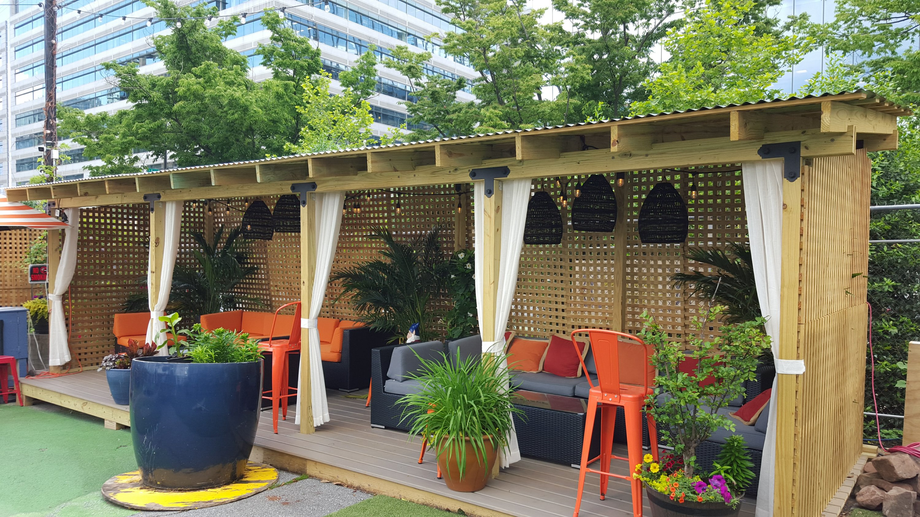 Wunder Garten has multiple cabanas available for reservation. Photo courtesy of Wunder Garten.