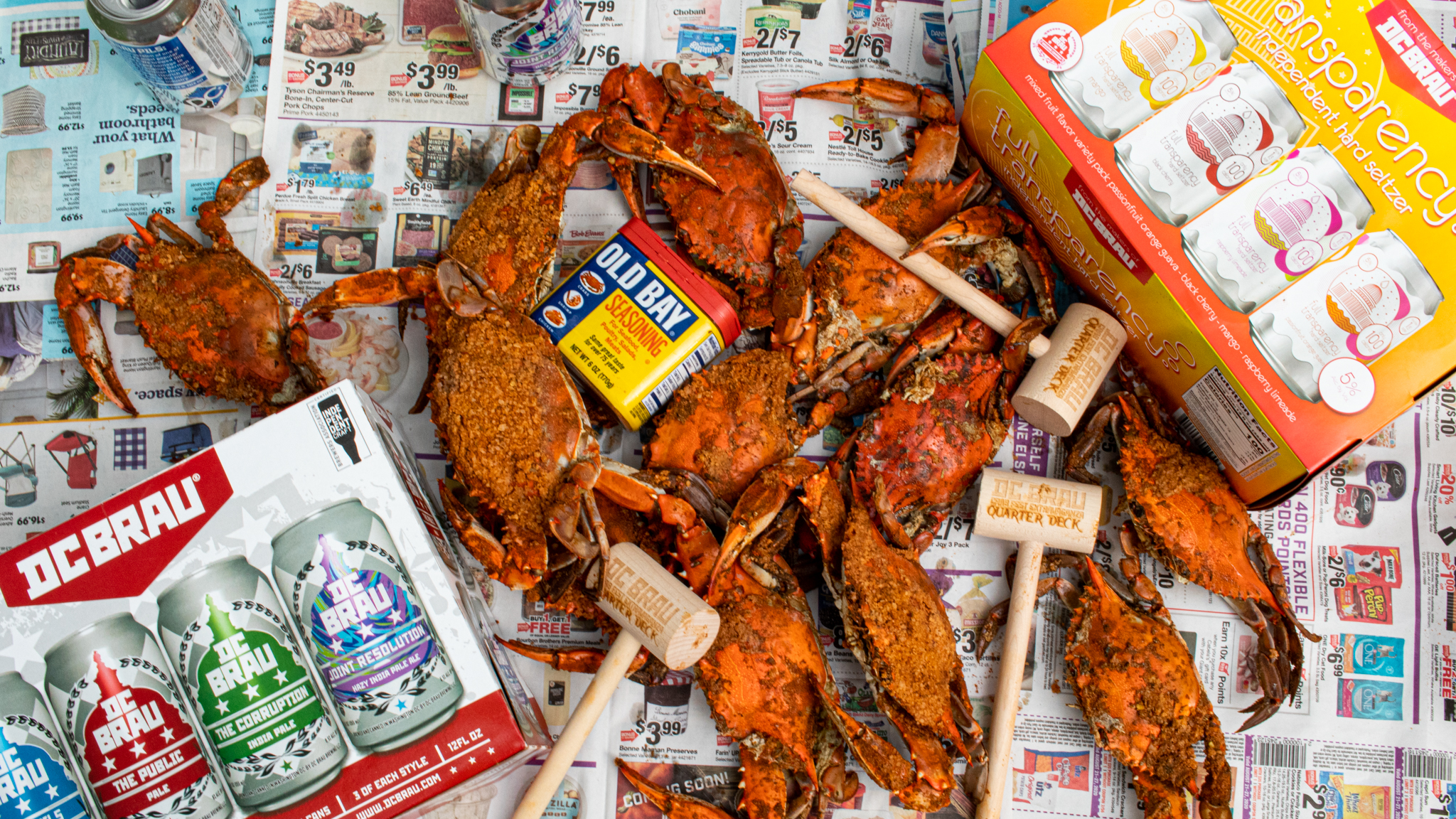 DC Brau and the Quarterdeck are offering beer and crabs on the summer holiday. Photo courtesy of DC Brau.