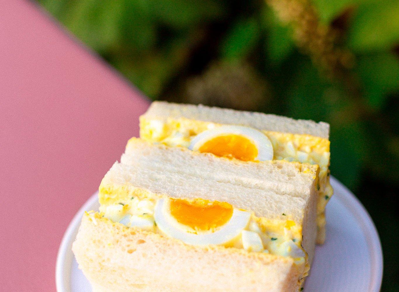Hello Sando's kewpie mayo and egg sandwich. Photo courtesy of Hello Sando.