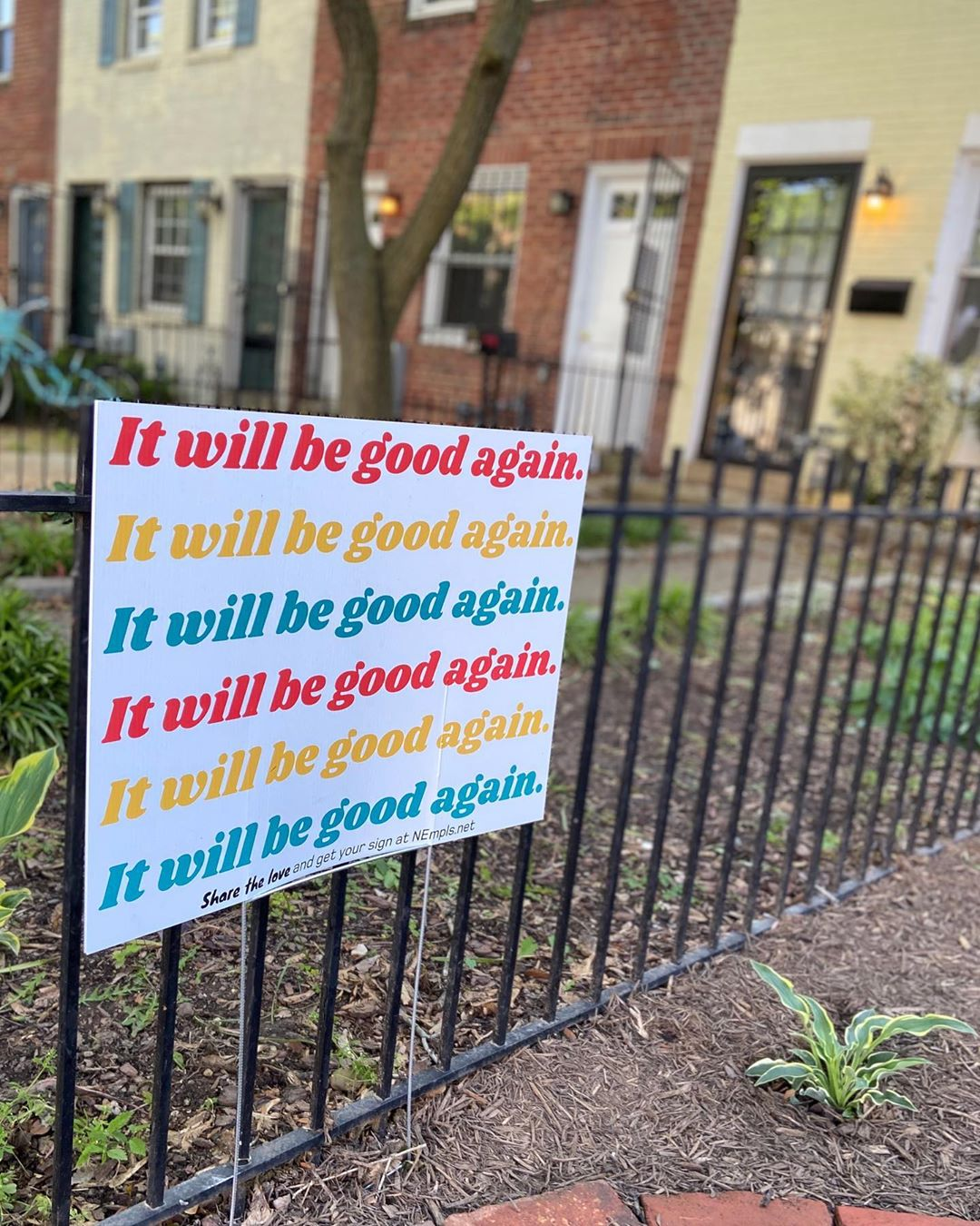 A yard sign at 17 St and C St SE. Photo courtesy of DC Public Library.