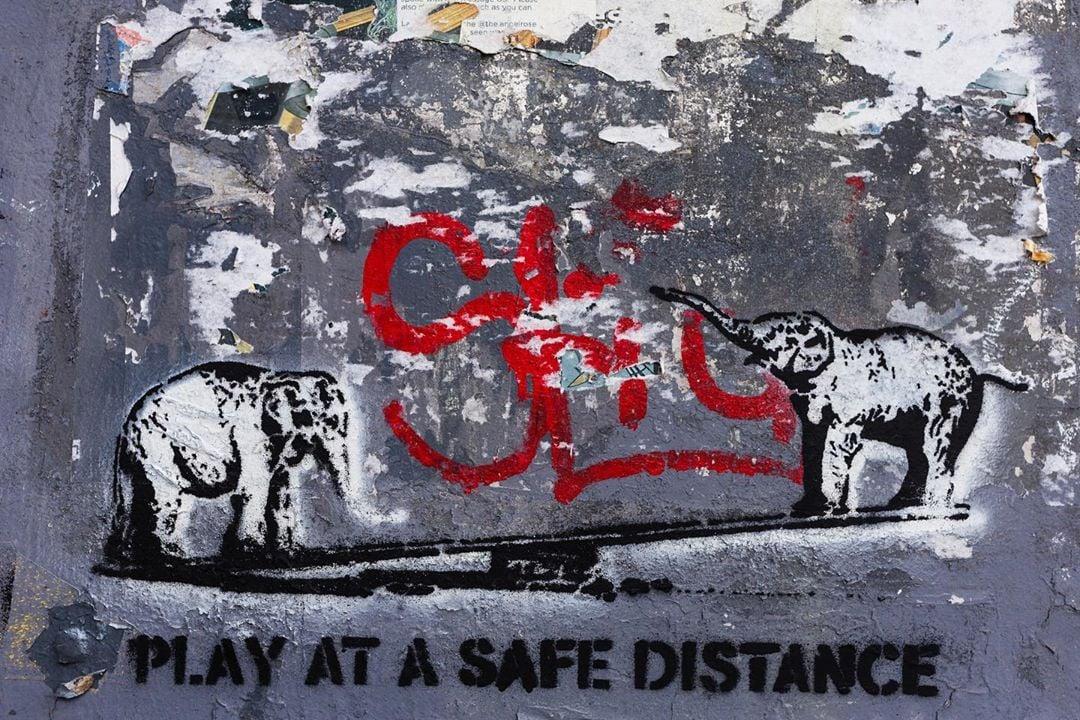 Pandemic-era street art. Photo courtesy of DC Public Library.