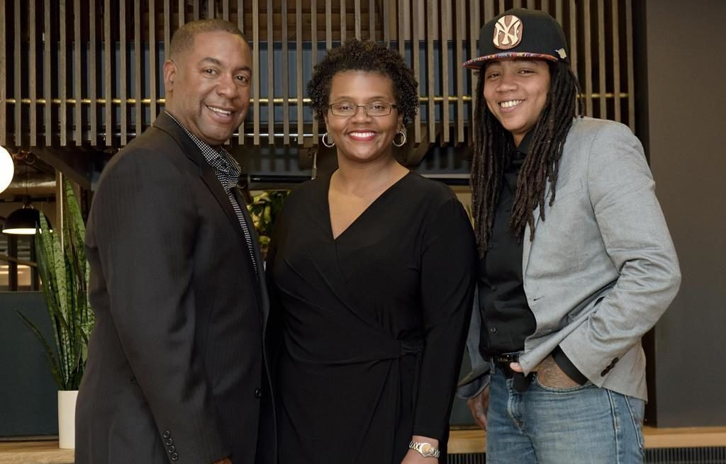 DMV Black Restaurant Week co-founders Furard Tate, Dr. Erinn Tucker, and Andra Johnson. Photo courtesy of DMV Black Restaurant Week.