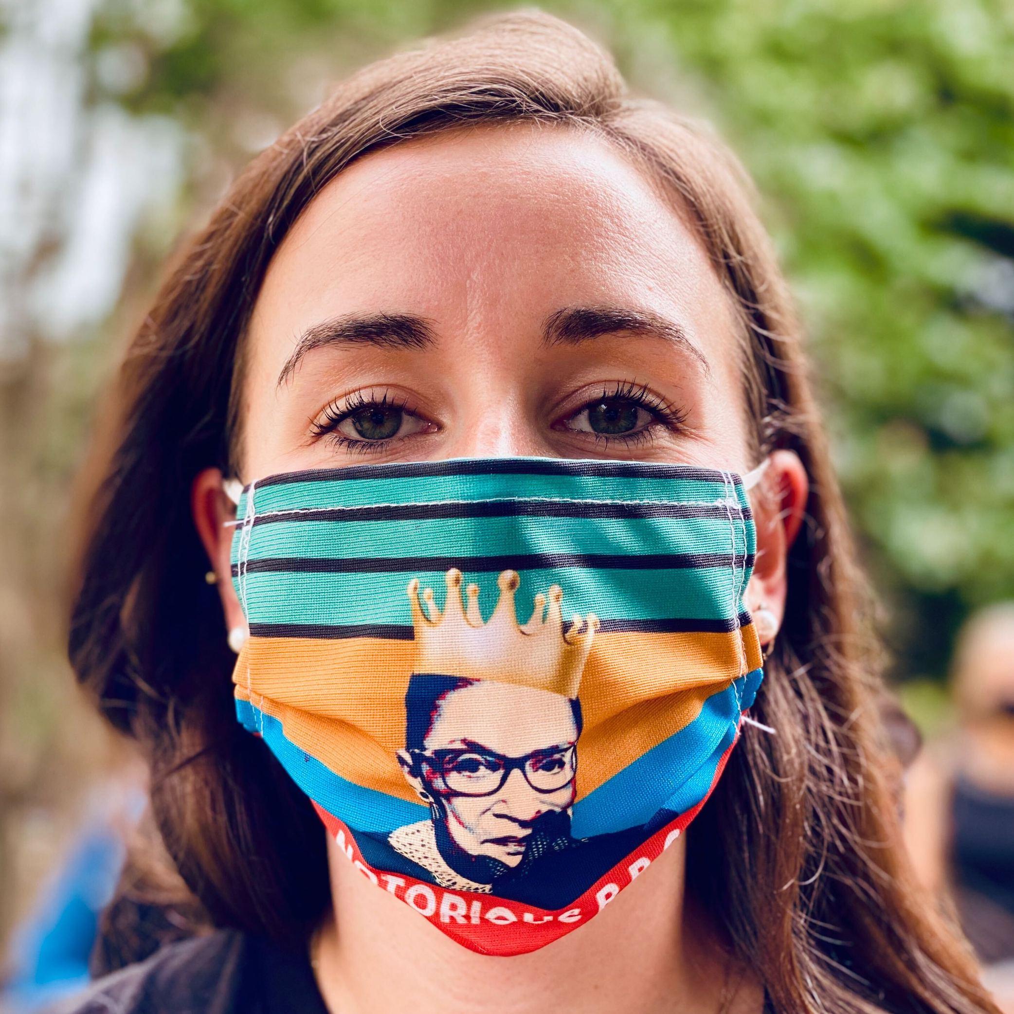 RBG mourners masks supreme court