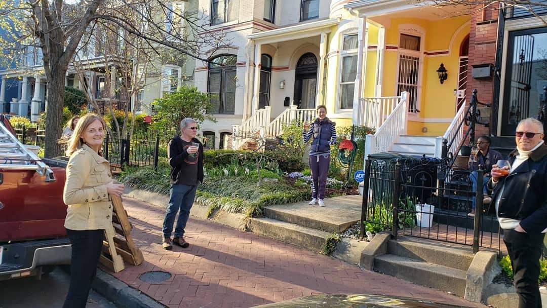 A socially-distanced neighborhood gathering. Photo courtesy of DC Public Library.