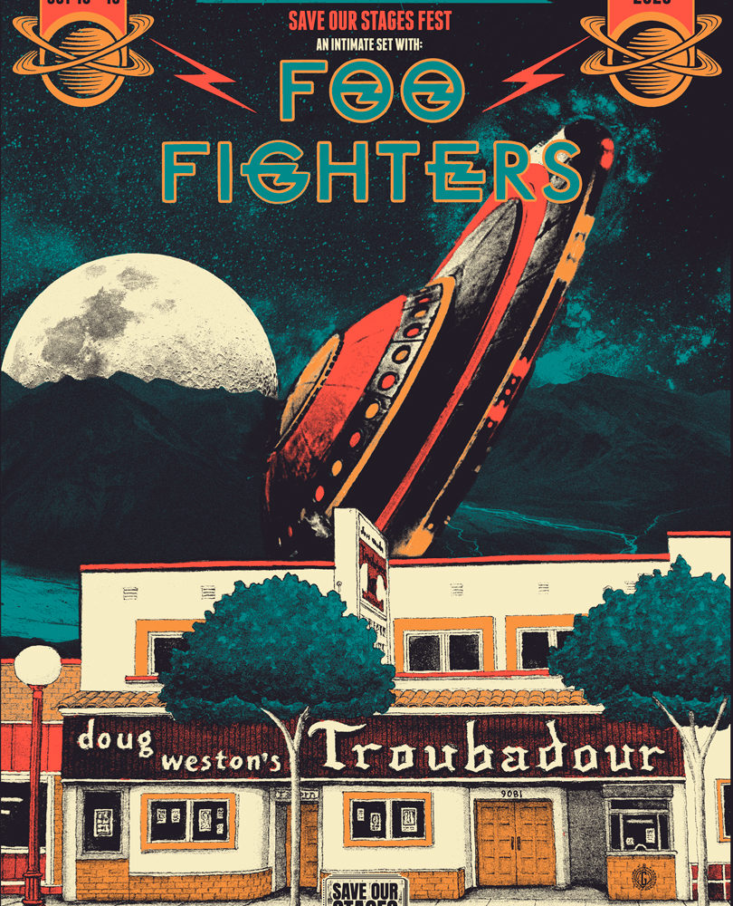 Foo Fighters at Troubadour poster by Lou X-Ray @Garageland