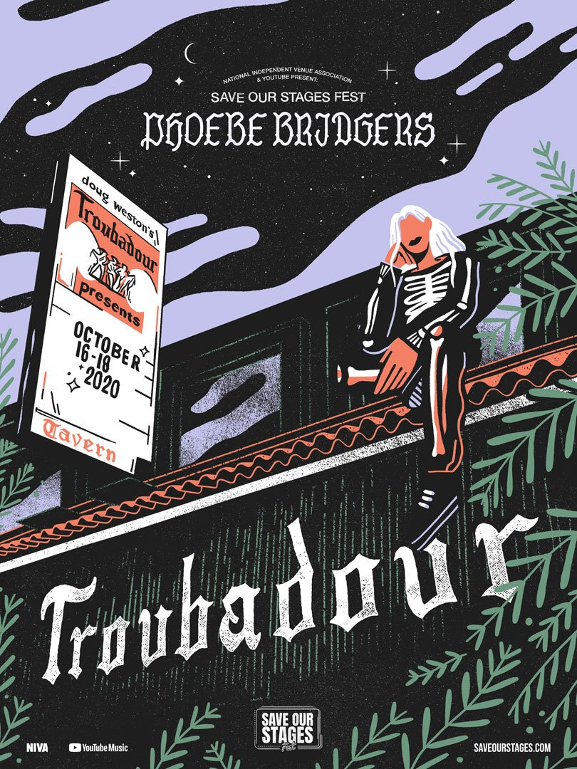 Phoebe Bridgers poster by Stephanie O'Byrne