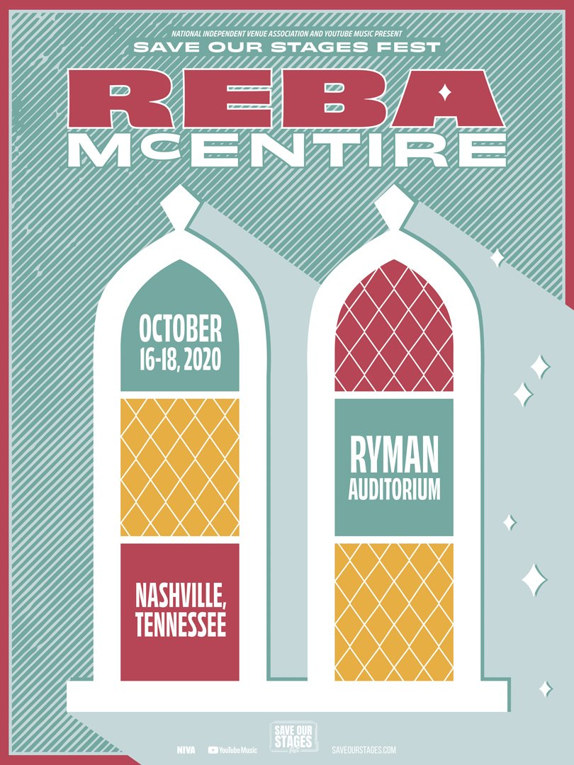 Reba McEntire at Ryman Auditorium poster by Rachael Trask