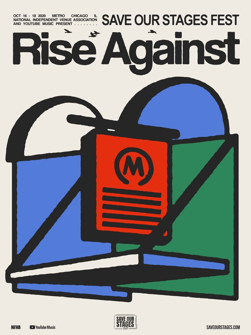 Rise Against at the Metro poster by Clare Byrne