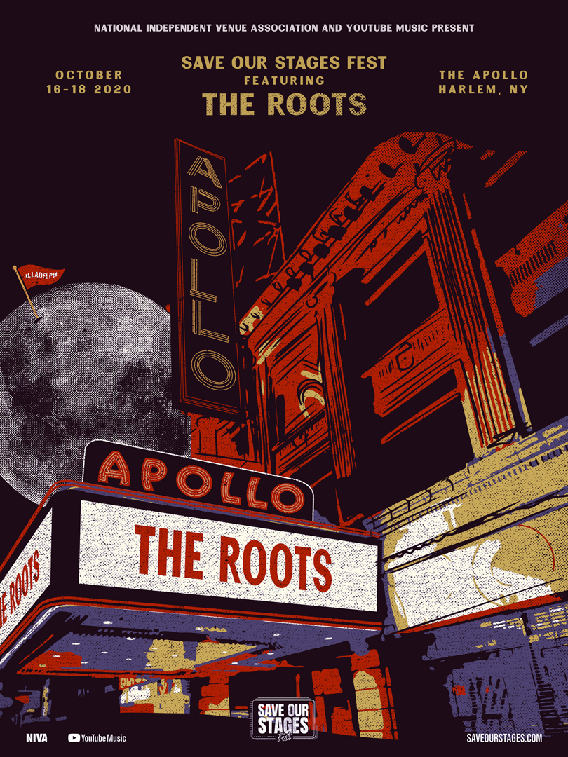 The Roots at the Apollo poster by Darin Michelle of 19fiftythree